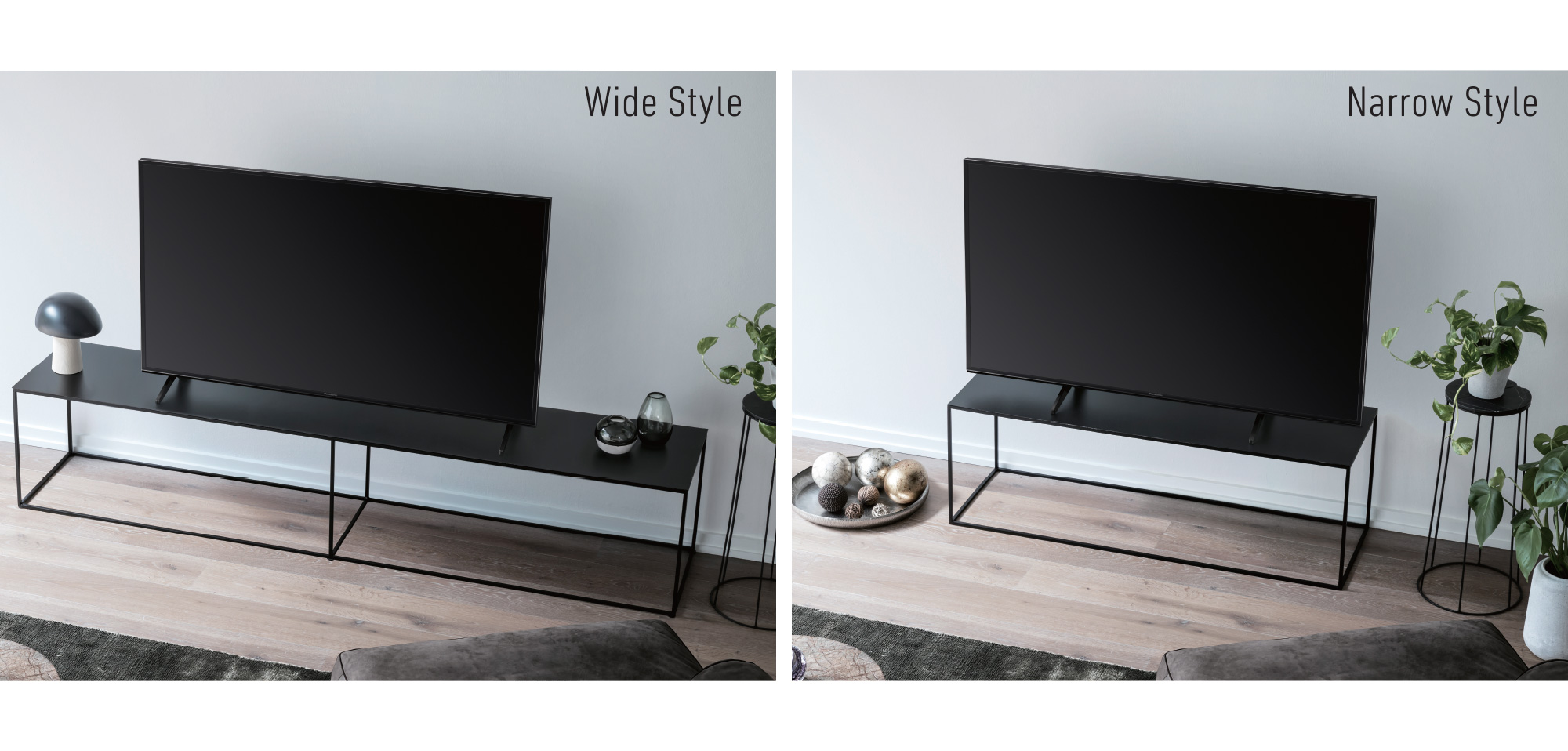 OLED - FX600, SWITCH DESIGN*1, Wide or narrow — with two distinct styles in one Flexible Pedestal design, you can now change the look of your TV to match your room's interior, or match the size of your TV stand.