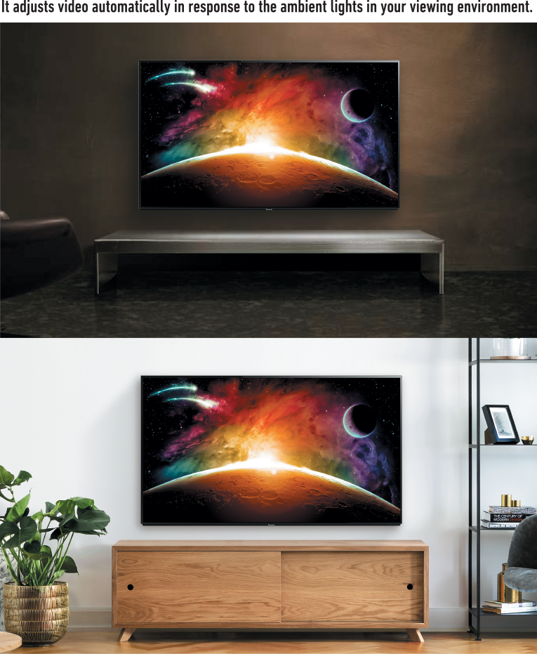 OLED - Excellent contrast and coloring even in a brightly lit room - Panasonic TV